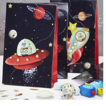 Space Adventure Party Loot Bags - pack of 8
